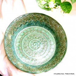 Custom medium wheel-thrown stoneware bowl or plate!