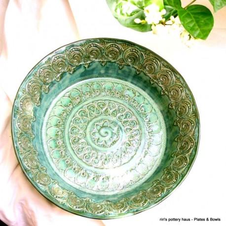 Custom medium wheel-thrown stoneware bowl or plate!
