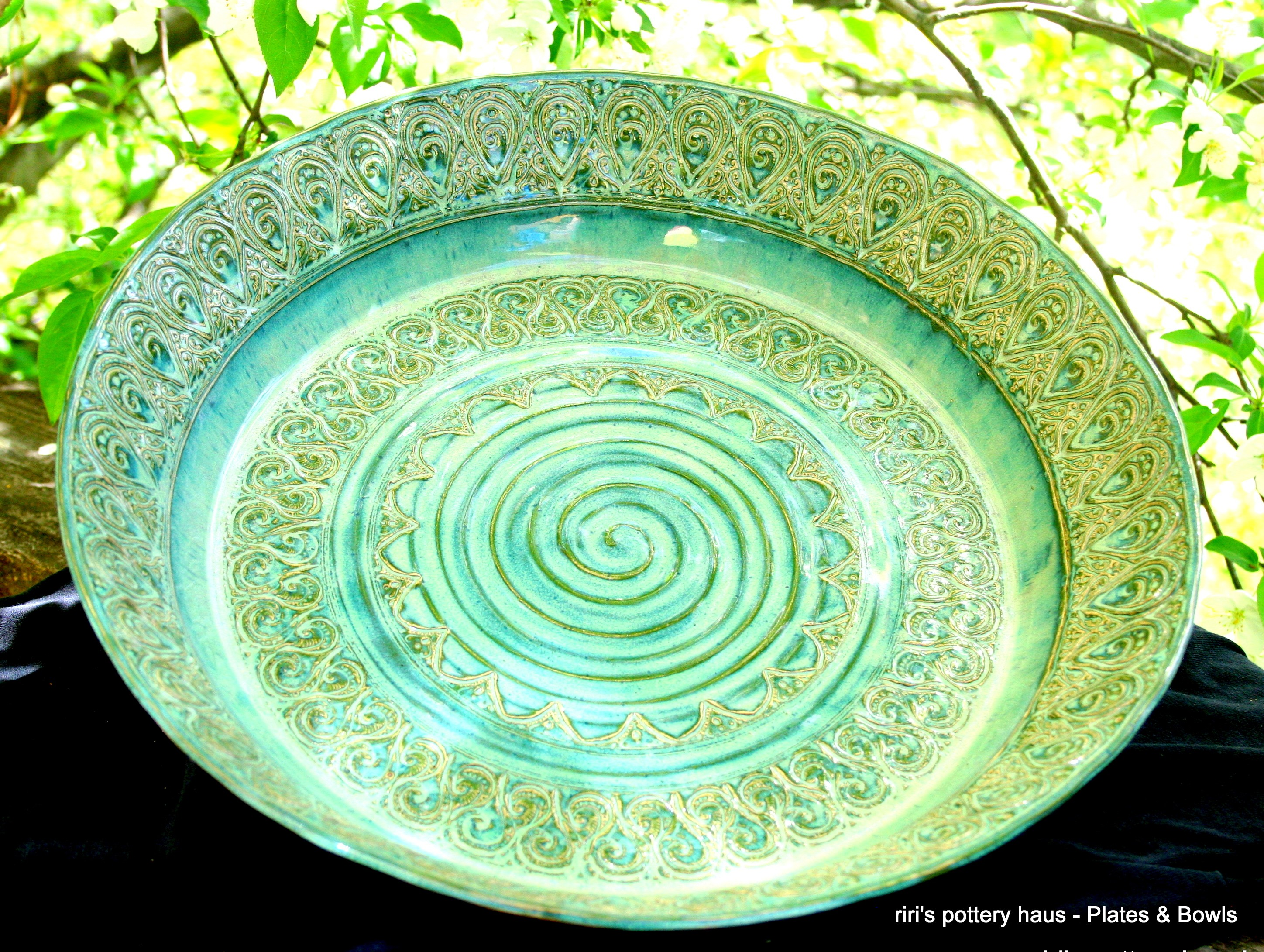 sc 1 st  ririu0027s pottery haus! & Custom large wheel-thrown stoneware bowl or plate! - ririu0027s pottery haus