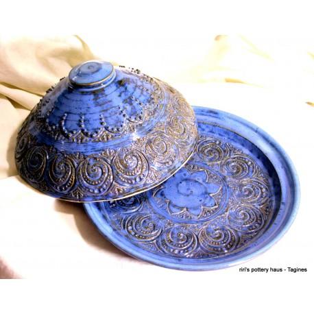 Custom small wheel-thrown stoneware tagine!