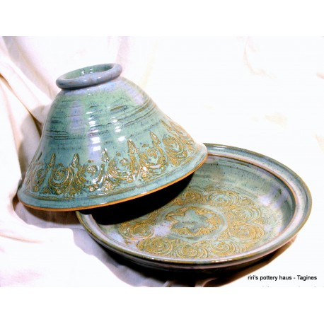 Custom medium wheel-thrown stoneware tagine!