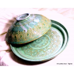 Custom large wheel-thrown stoneware tagine!