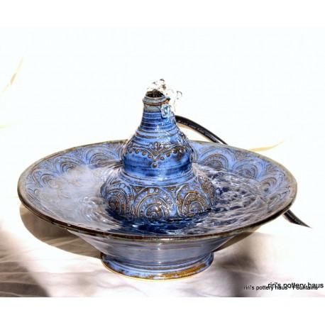 Custom small wheel-thrown stoneware fountain!