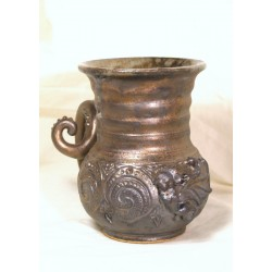Custom large mermaid sculptural single-banded wheel-thrown stoneware mug!