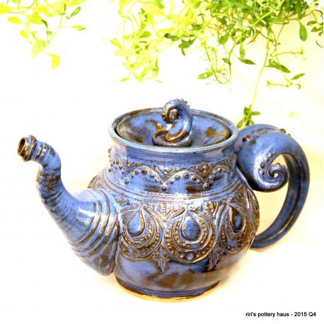 Custom large Medusa sculptural double-banded wheel-thrown stoneware mug!